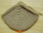 掛け目を使う引き返し編み
