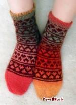 Hearts Socks Front