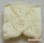 Brioche模様編みのスワッチ