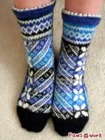 編み込み靴下