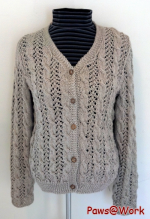 Lace Cable Cardigan Front