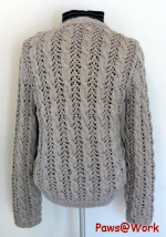 Lace Cable Cardigan Back