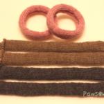 棒針で編んだボール:パーツ