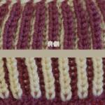イギリスゴム編み:2つ目