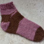 つま先から編む靴下:サンプル