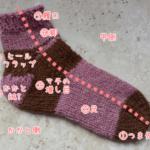 つま先から編む靴下:編み順