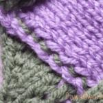 バスケット編みの編地つなぎ目が綺麗じゃない。