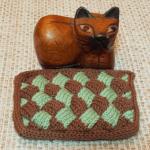 バスケット編み (白樺編み) のハンドレストを編みました