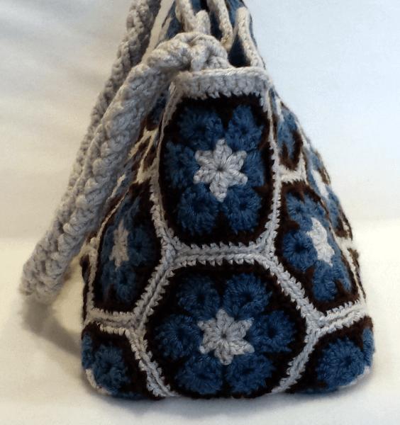 フラワー 図 アフリカン 編み