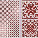 ノルディック模様のクッション:編み図