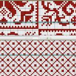 ノルディック模様のクッション:PDF閲覧ソフトで編み図を見てます