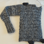 Side-way Ribs Cardigan: 左側