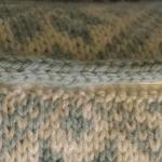 編み込み模様のクッションカバー:ファスナー