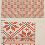 編み込み模様のクッションカバー:編み図
