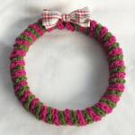 かぎ針で編むクリスマスリース:完成