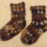 バスケット編みの靴下: 練習完了